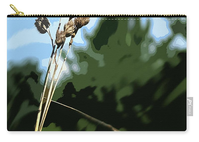 Straw Carry-all Pouch featuring the photograph Last Straw by Ian MacDonald