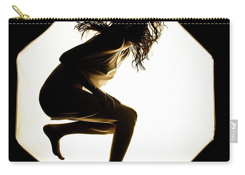 Jumping Woman Carry-all Pouch featuring the photograph Leaping by Scott Sawyer
