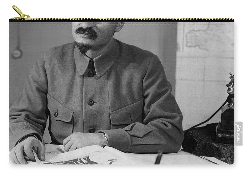 20th Century Carry-all Pouch featuring the photograph Leon Trotsky (1879-1940) by Granger