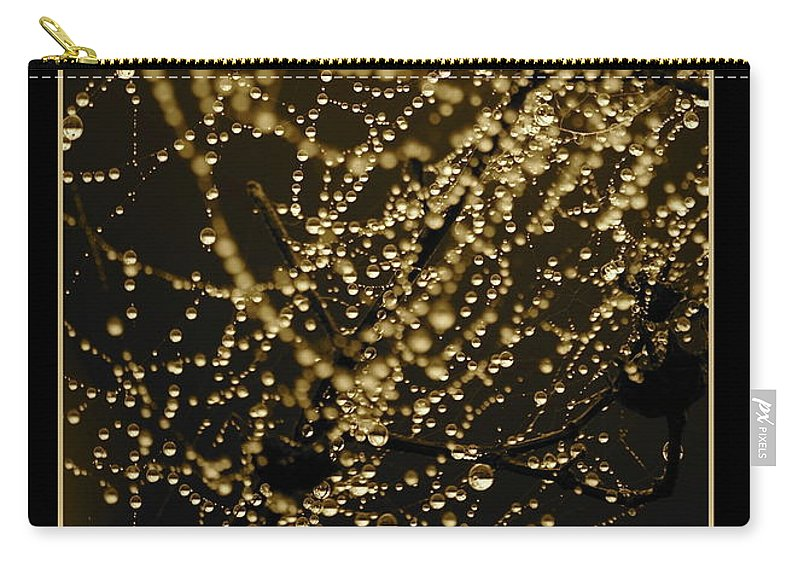 Black And Gold Carry-all Pouch featuring the photograph Let Your Light Shine by Carol Groenen