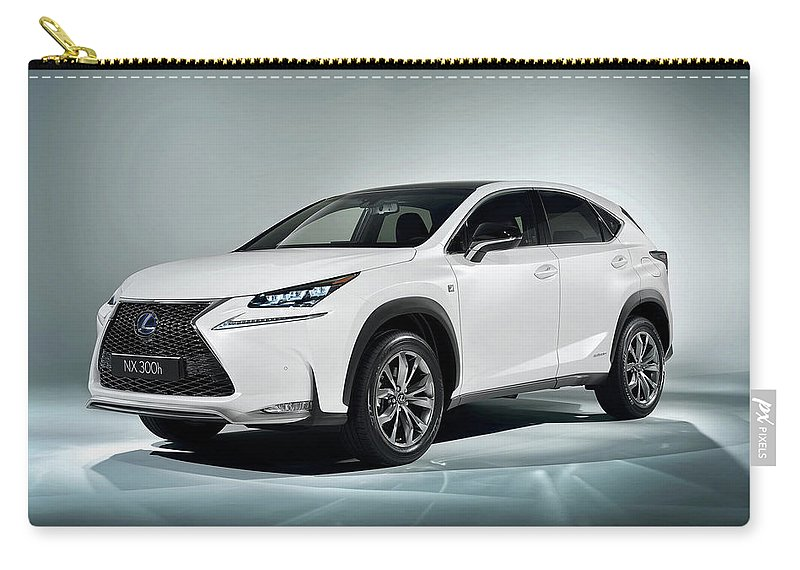 Lexus Nx 0h F Sport 0 120x1200 010 Carry-all Pouch featuring the digital art Lexus Nx 300h F Sport 2014 1920x1200 010 by Anne Pool