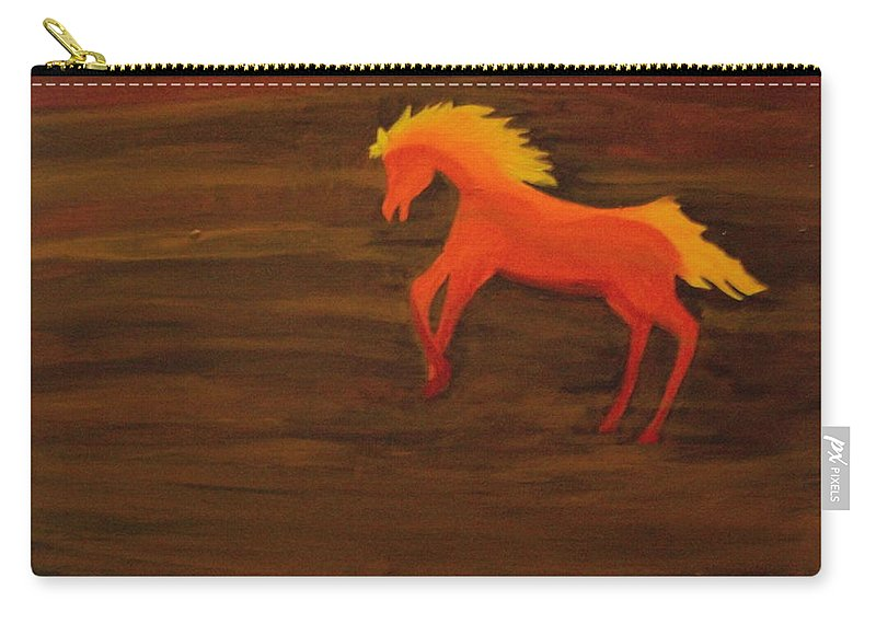 Life On Mars Carry-all Pouch featuring the painting Life On Mars by Laurette Escobar
