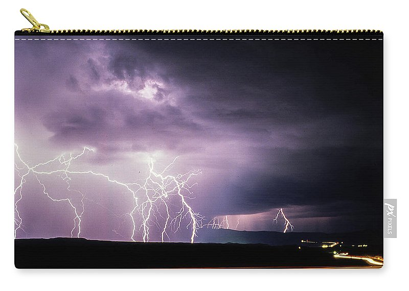 Arizona Carry-all Pouch featuring the photograph Light Show 002 by Michael Scully