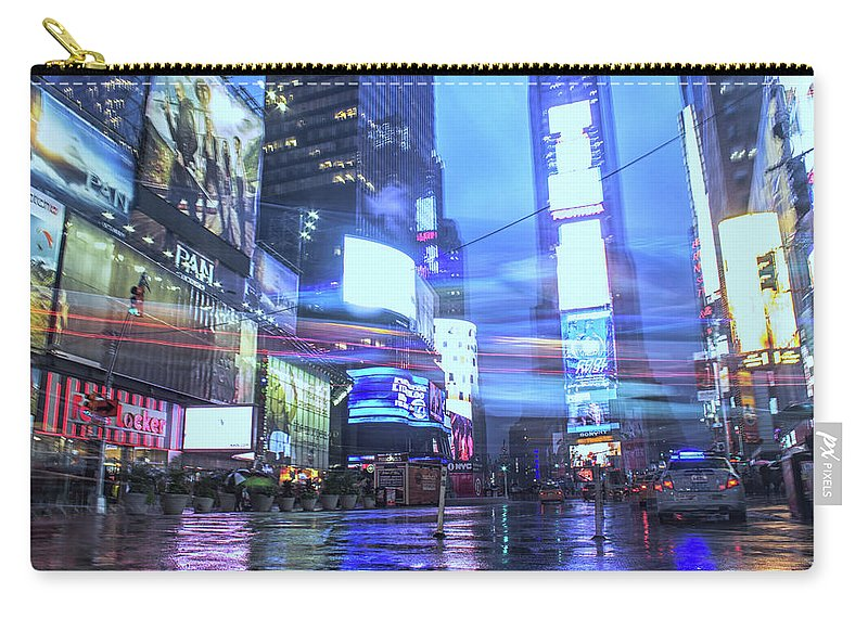Manhattan Carry-all Pouch featuring the photograph Light Speed by Martin Newman