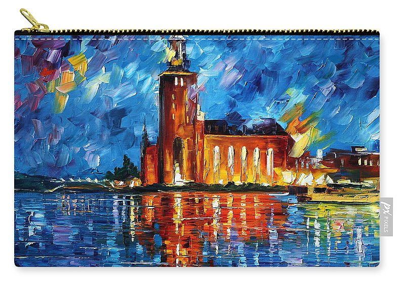 Boat Carry-all Pouch featuring the painting Lighthouse by Leonid Afremov