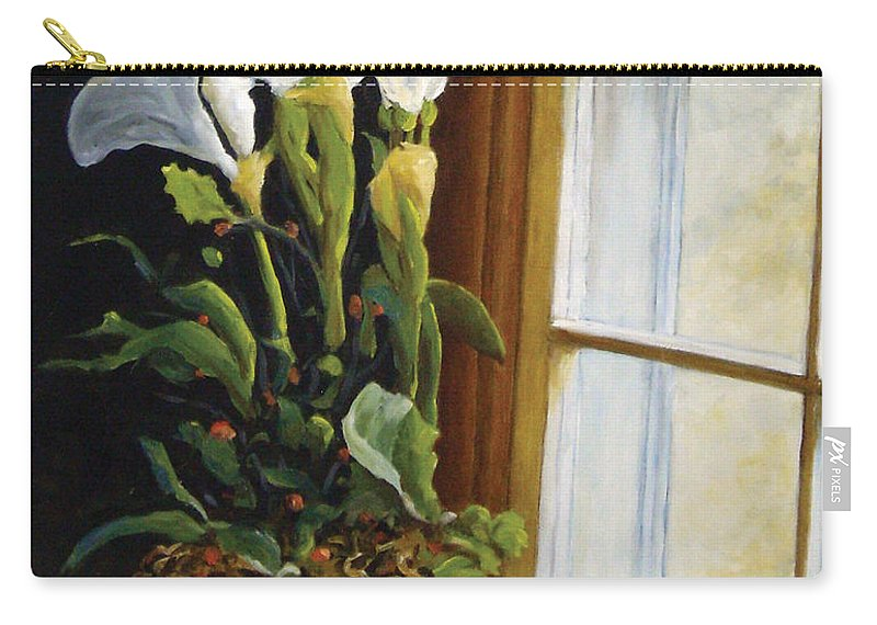 Art Carry-all Pouch featuring the painting Lillies by Richard T Pranke