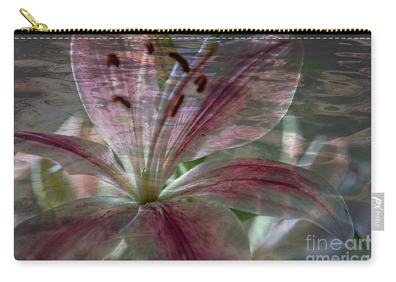 Lily Carry-all Pouch featuring the photograph Lily Blossom by Sherman Perry