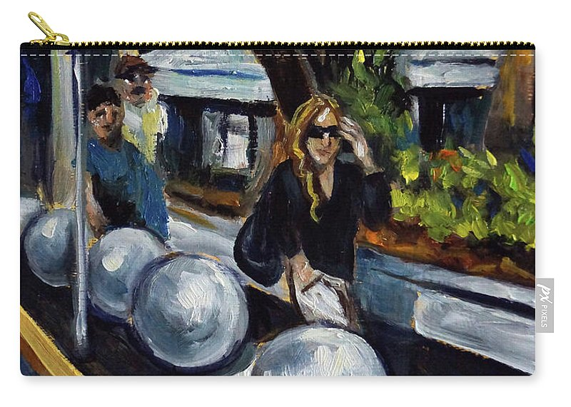 Sobe Carry-all Pouch featuring the painting Lincoln Road by Valerie Vescovi
