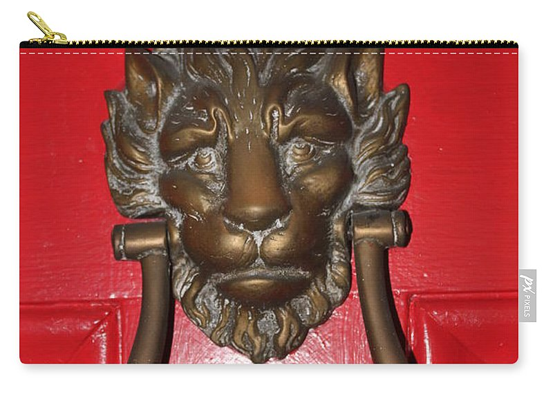 New Orleans Carry-all Pouch featuring the photograph Lion Head Door Knocker by Lauri Novak