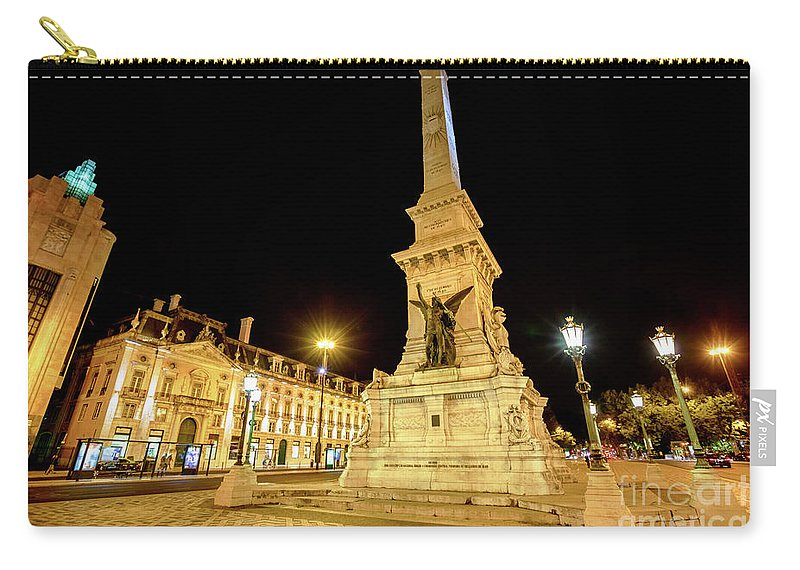 Lisbon Carry-all Pouch featuring the photograph Lisbon By Night by Benny Marty