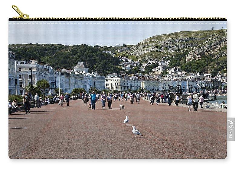 Aqua Carry-all Pouch featuring the photograph Llandudno Beach by Svetlana Sewell