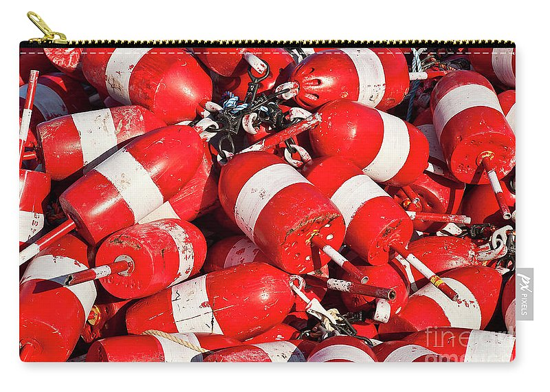 Corea Carry-all Pouch featuring the photograph Lobster Buoys. by John Greim