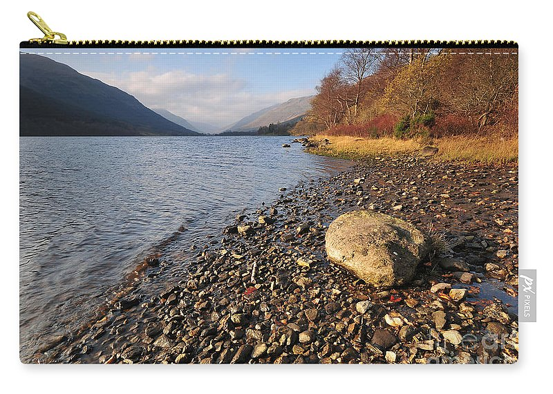 Loch Voil Carry-all Pouch featuring the photograph Loch Voil by Smart Aviation