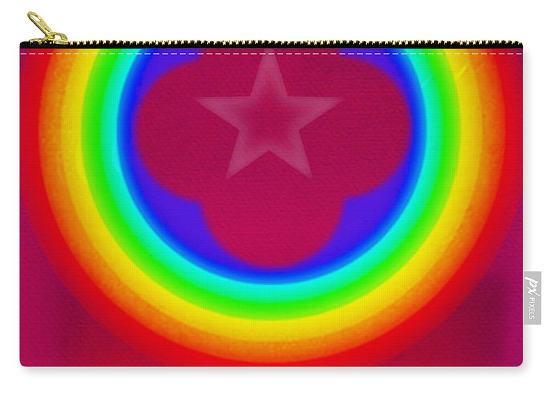 Abstract Carry-all Pouch featuring the painting Logo by Charles Stuart