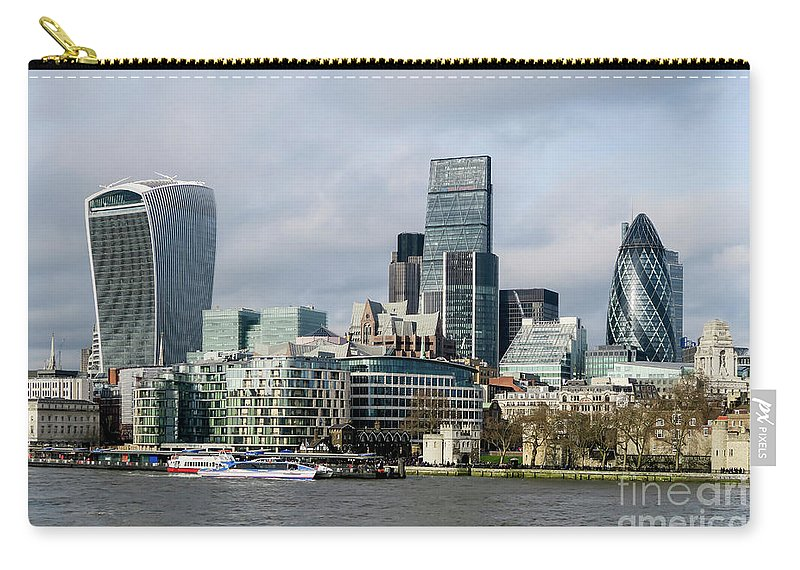 London Carry-all Pouch featuring the photograph London City by Arild Lilleboe
