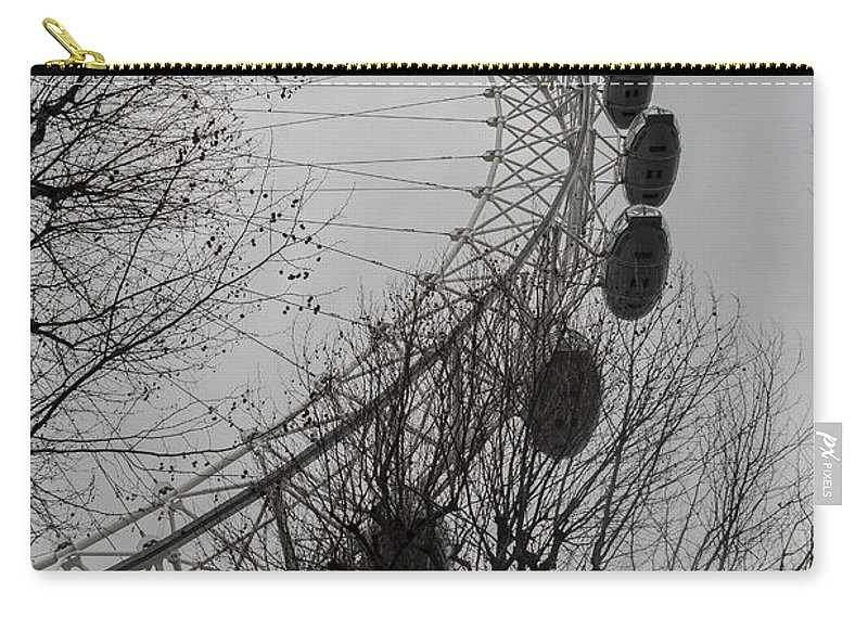 Landmark Carry-all Pouch featuring the photograph London Eye by Arild Lilleboe
