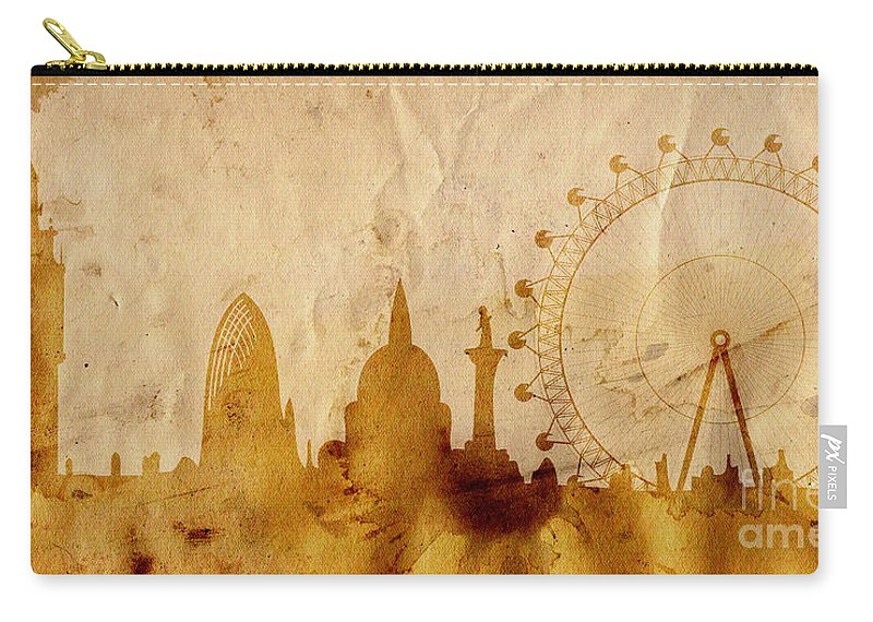 London Carry-all Pouch featuring the mixed media London by Michal Boubin