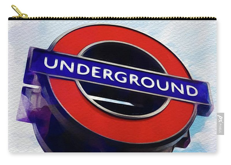 Underground Carry-all Pouch featuring the painting London Underground by John Springfield
