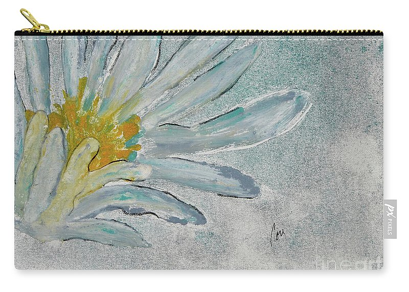 Lotus Flower Carry-all Pouch featuring the mixed media Lotus Flower by Cori Solomon