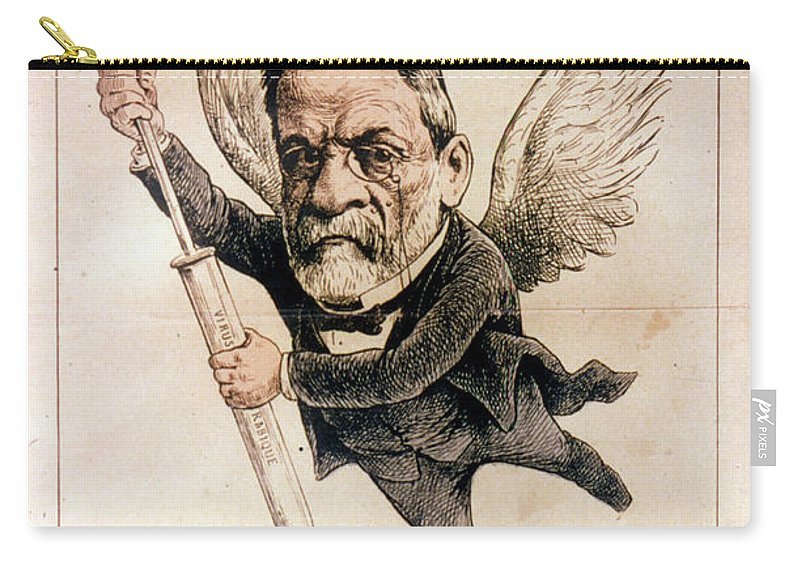 1886 Carry-all Pouch featuring the photograph Louis Pasteur (1822-1895) by Granger