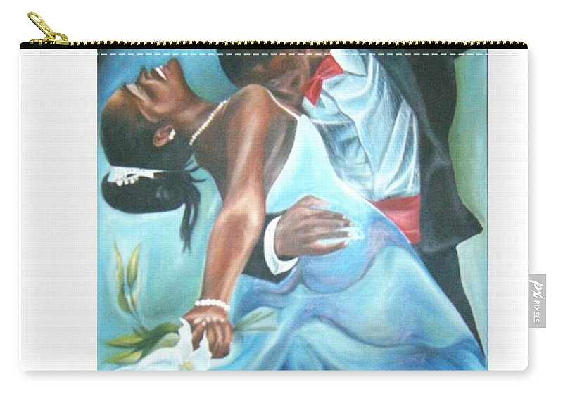 Beautiful Carry-all Pouch featuring the painting Love Dance by Olaoluwa Smith