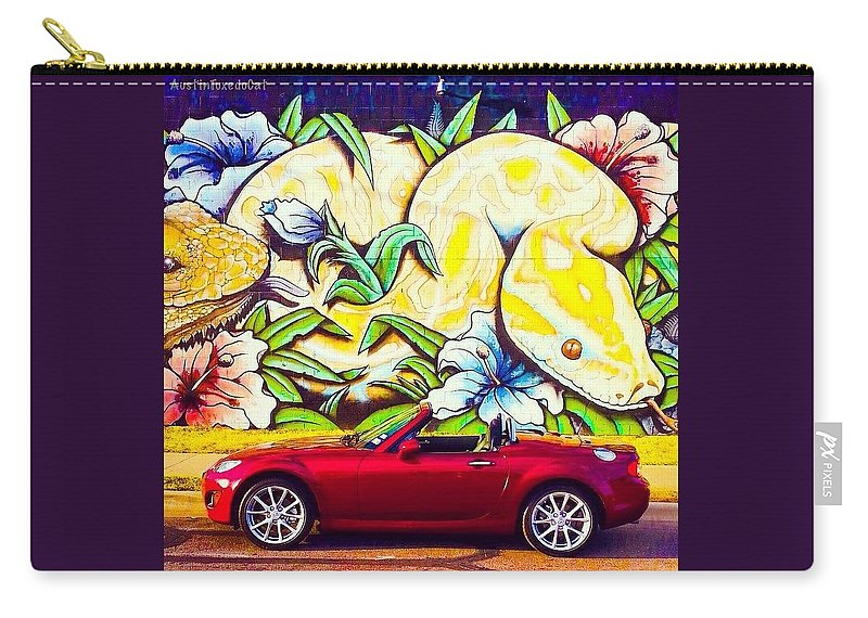 Caroftheday Carry-all Pouch featuring the photograph Love Him, But His Days With Our Crazy by Austin Tuxedo Cat