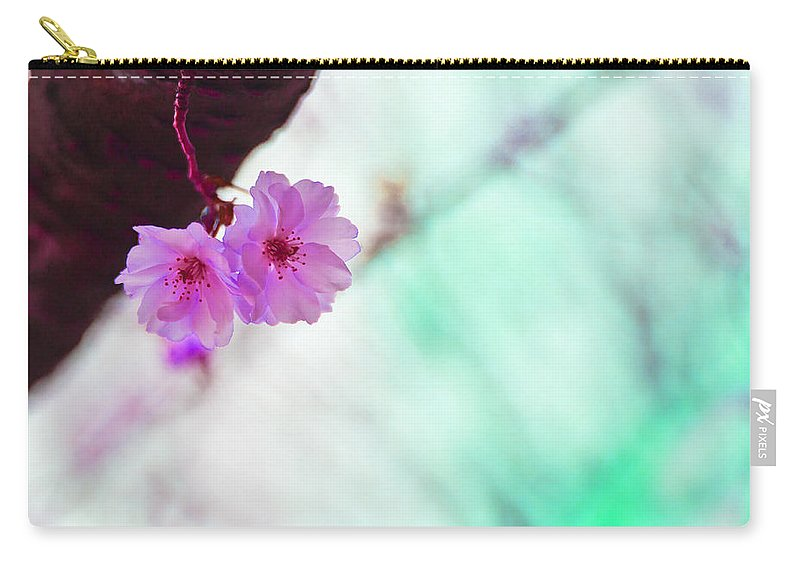 Flowers Carry-all Pouch featuring the photograph Love Twins V2 by Alex Art and Photo