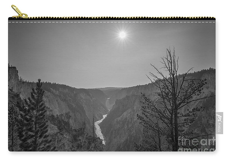Yellowstone Carry-all Pouch featuring the photograph Lower Yellowstone Falls by Michael Ver Sprill