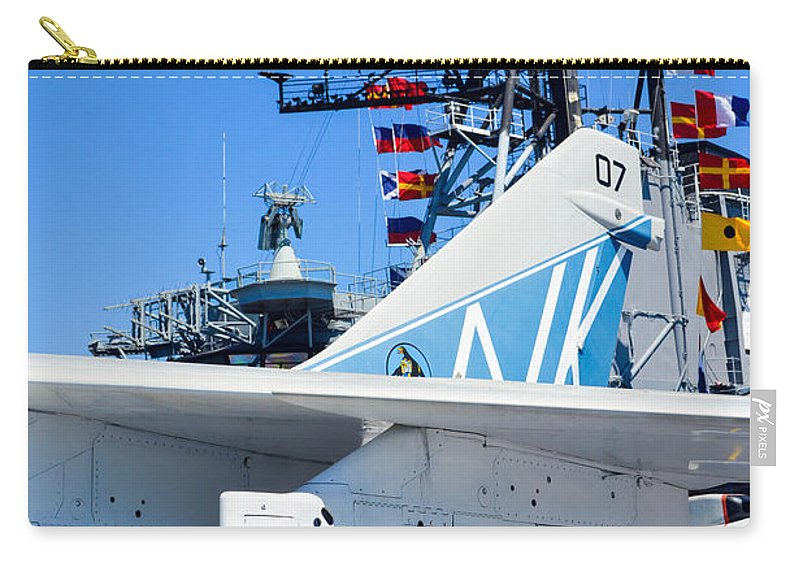 2014 Carry-all Pouch featuring the photograph Ltv A-7 Corsair II by Tommy Anderson