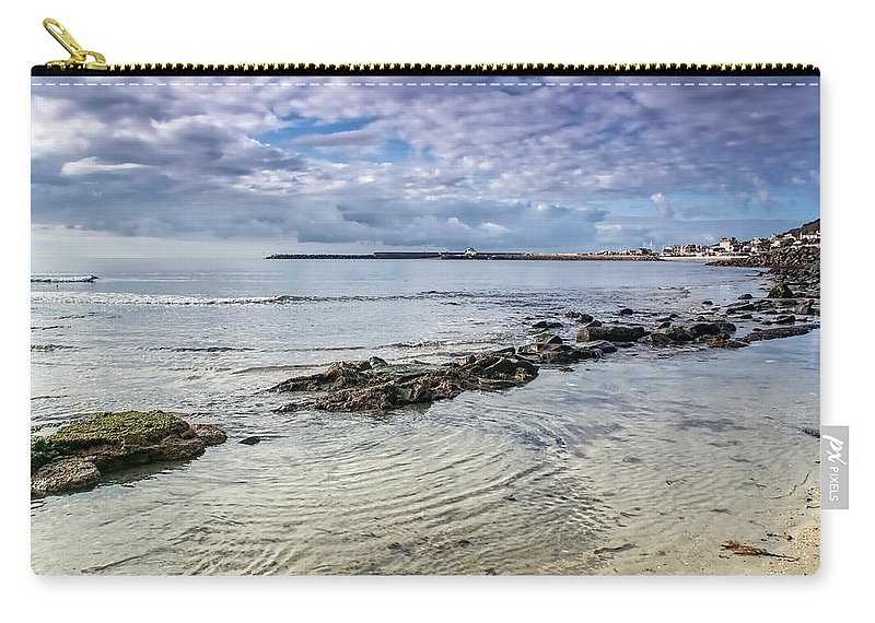 Lyme-regis Carry-all Pouch featuring the photograph Lyme Regis Seascape - October by Susie Peek