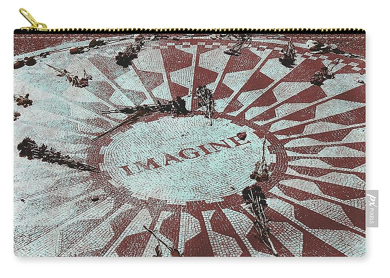 John Lennon Carry-all Pouch featuring the photograph Lyrics Of Lennon by JAMART Photography