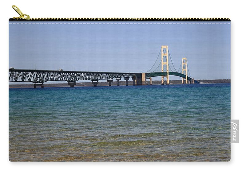 America Carry-all Pouch featuring the photograph Mackinac Bridge by Frank Romeo