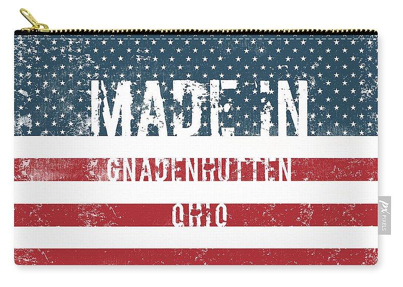 Gnadenhutten Carry-all Pouch featuring the digital art Made In Gnadenhutten, Ohio by GoSeeOnline