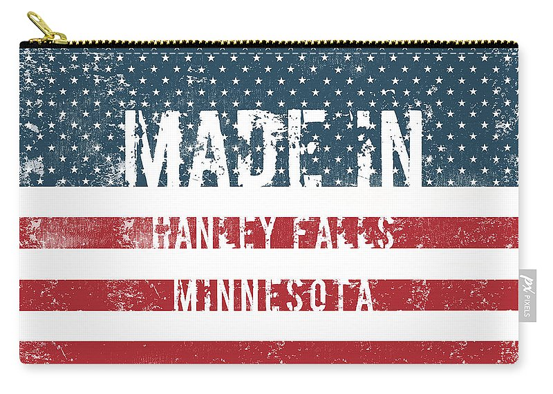 Hanley Falls Carry-all Pouch featuring the digital art Made In Hanley Falls, Minnesota by GoSeeOnline