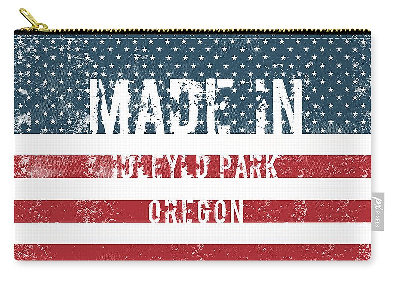 Idleyld Park Carry-all Pouch featuring the digital art Made In Idleyld Park, Oregon by GoSeeOnline