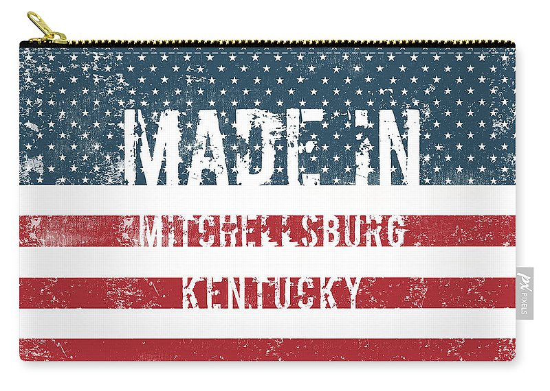 Mitchellsburg Carry-all Pouch featuring the digital art Made In Mitchellsburg, Kentucky by Tinto Designs
