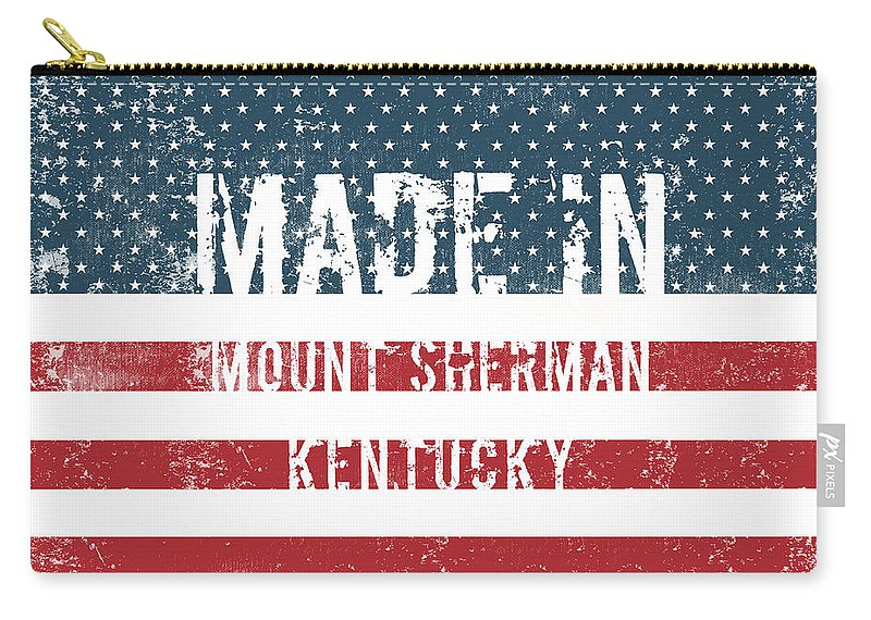 Mount Sherman Carry-all Pouch featuring the digital art Made In Mount Sherman, Kentucky by Tinto Designs