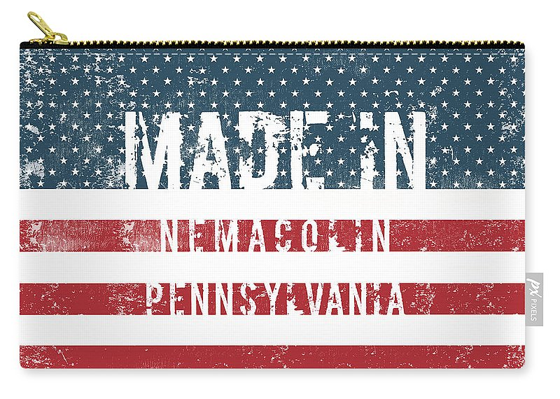 Nemacolin Carry-all Pouch featuring the digital art Made In Nemacolin, Pennsylvania by GoSeeOnline