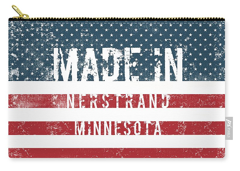 Nerstrand Carry-all Pouch featuring the digital art Made In Nerstrand, Minnesota by GoSeeOnline