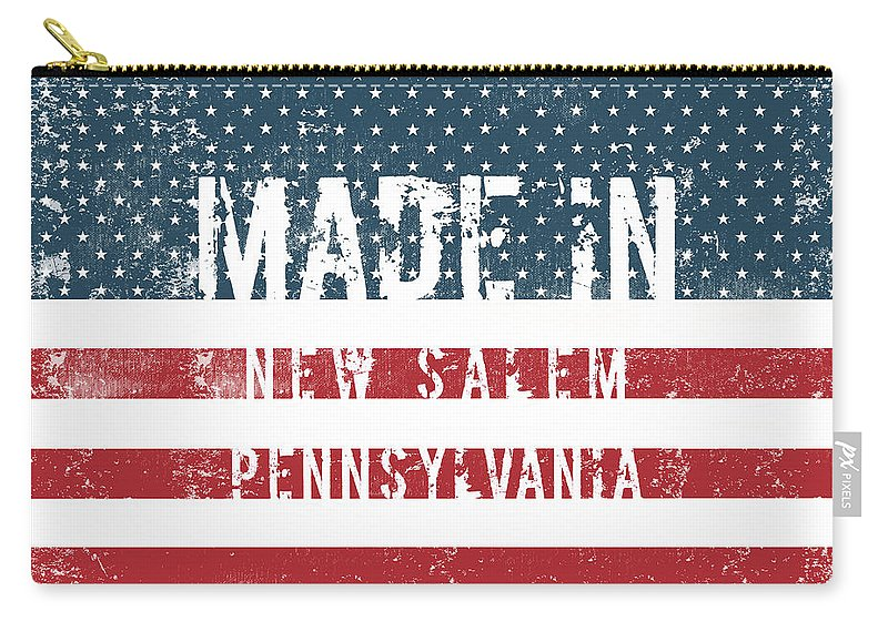 New Salem Carry-all Pouch featuring the digital art Made In New Salem, Pennsylvania by GoSeeOnline