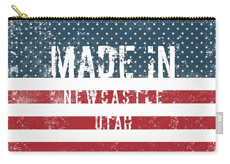Newcastle Carry-all Pouch featuring the digital art Made In Newcastle, Utah by GoSeeOnline