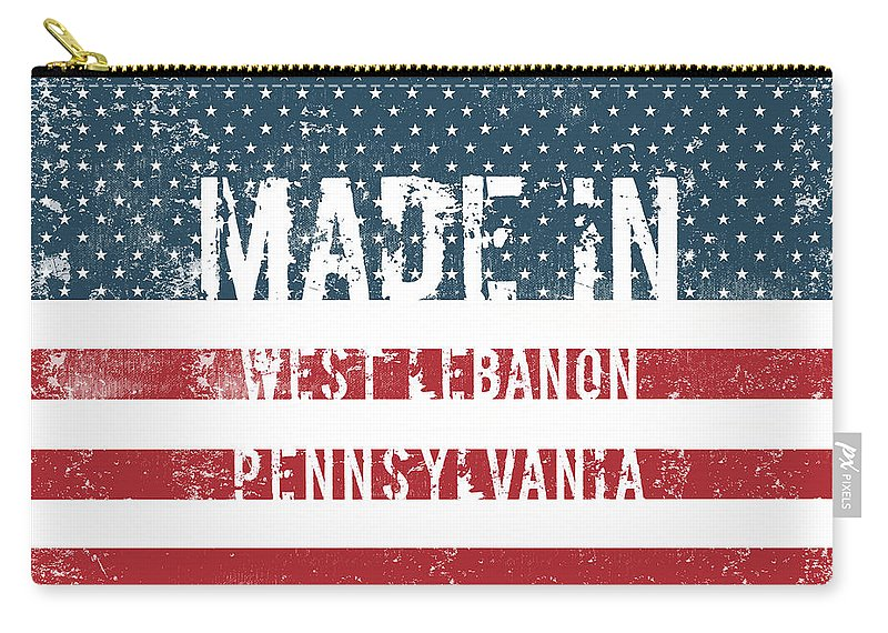 West Lebanon Carry-all Pouch featuring the digital art Made In West Lebanon, Pennsylvania by Tinto Designs