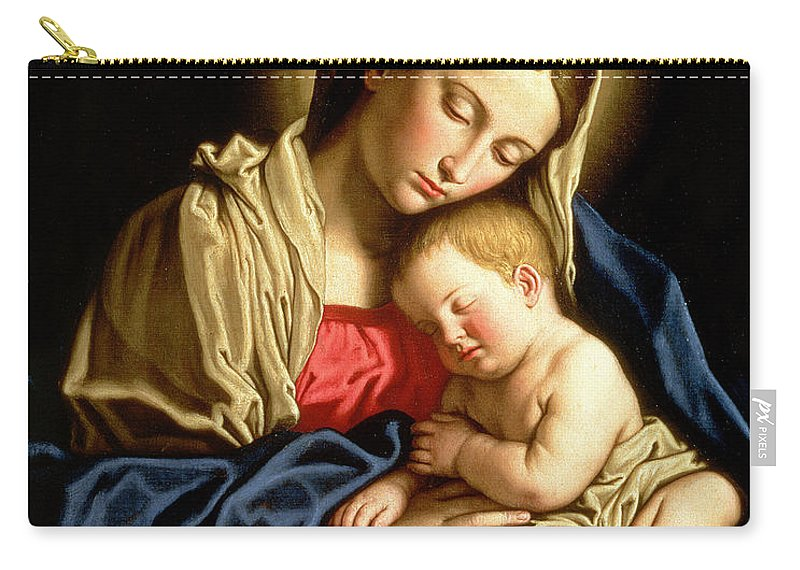 Mary Carry-all Pouch featuring the painting Madonna And Child by Il Sassoferrato