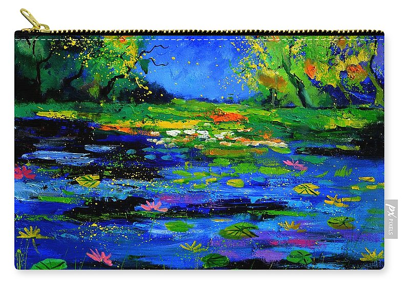 Landscape Carry-all Pouch featuring the painting Magic pond 765170 by Pol Ledent