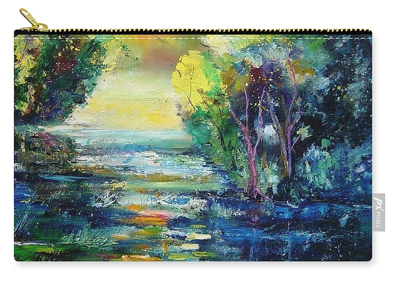Pond Carry-all Pouch featuring the painting Magic Pond by Pol Ledent