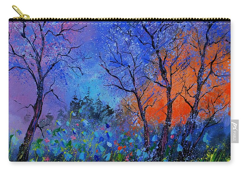 Landscape Carry-all Pouch featuring the painting Magic wood by Pol Ledent