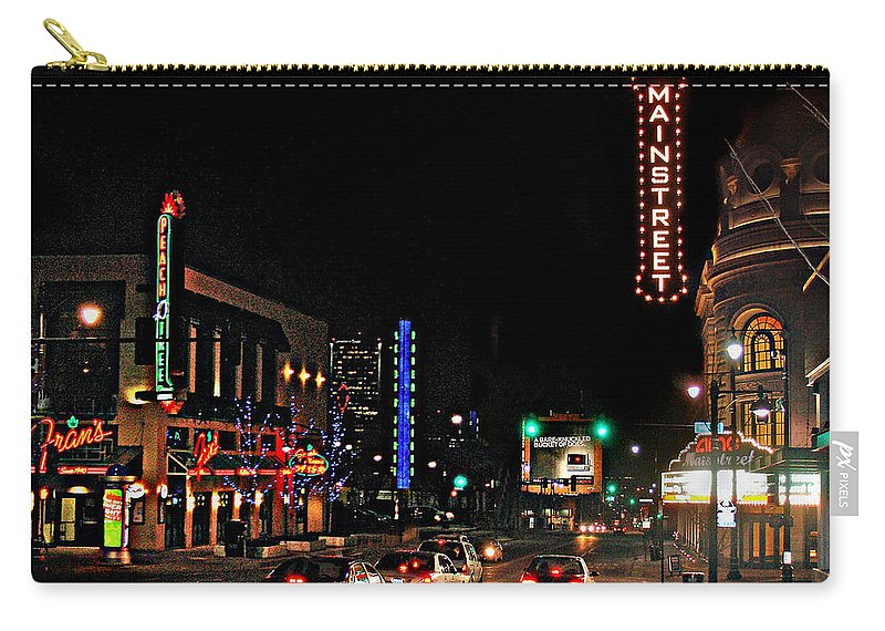 Landscape Carry-all Pouch featuring the photograph Main Street by Steve Karol