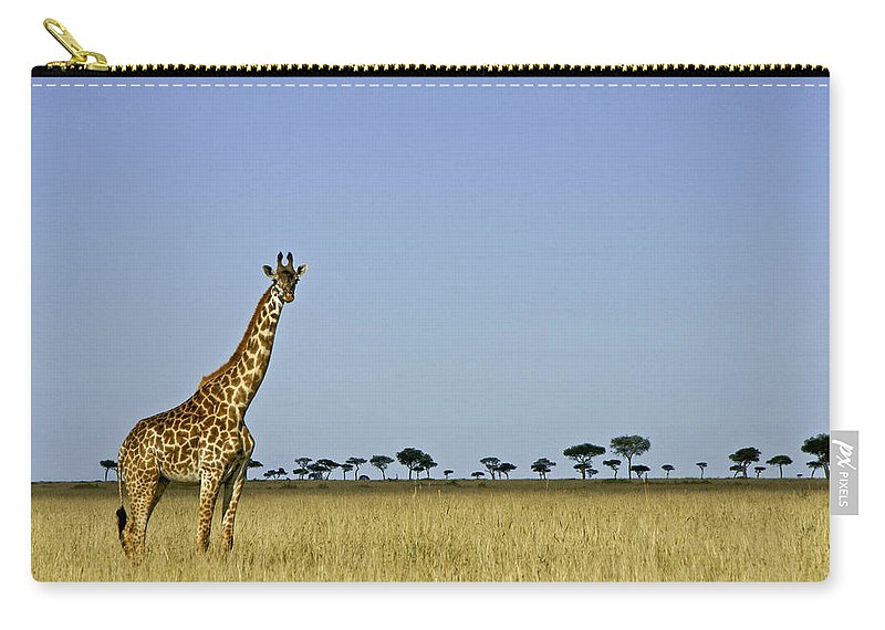 Africa Carry-all Pouch featuring the photograph Majestic Giraffe by Michele Burgess