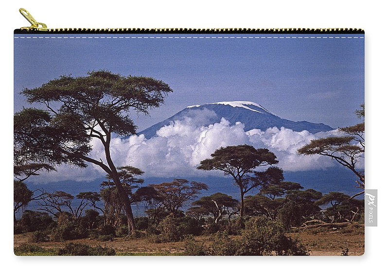 Africa Carry-all Pouch featuring the photograph Majestic Mount Kilimanjaro by Michele Burgess