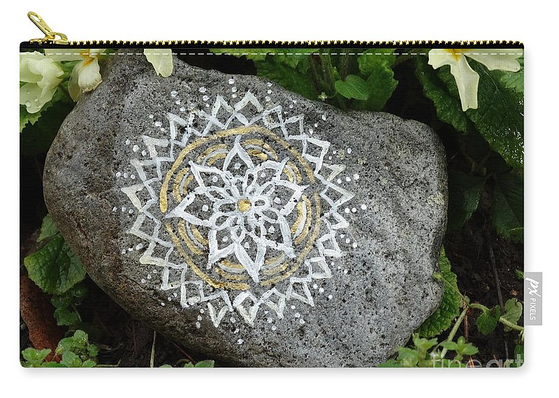 Mandala Carry-all Pouch featuring the photograph Mandala Stone by Vania